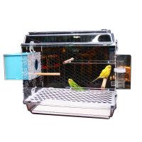 【支持礼品卡】鸟笼子饲养箱孵化箱透明灰鹦鹉虎皮牡丹别墅亚克力鸟笼鹦鹉t7l