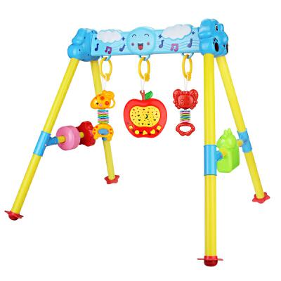 婴儿健身架儿童健身器宝宝音乐玩具新生儿婴幼儿摇铃早教益智玩具故事机 0-1岁 +充电套装