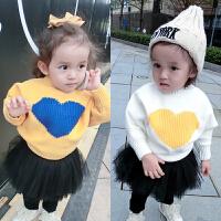 婴儿毛衣男童1-3岁2男宝宝韩版套头针织衫新生儿中小童冬装