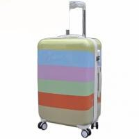 万向轮拉杆箱镜面旅行箱行李箱20寸24寸男女登机箱包 彩条瑕疵品 24寸