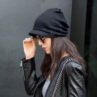 帽子女女士时尚潮百搭韩版街头女式包头帽月子帽