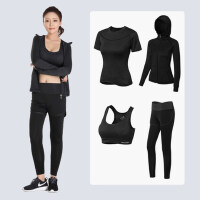瑜伽服套装女 专业运动健身房晨跑步服宽松速干衣显瘦