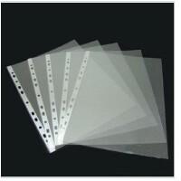 11孔袋A4保护膜/透明文件袋/1活页塑料PP袋/膜插页 打孔夹专用100页5C