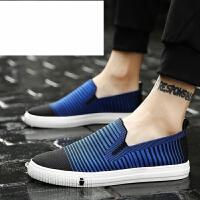 潮牌男鞋夏季潮鞋2017新款休闲布鞋透气学生帆布鞋百搭懒人鞋板鞋