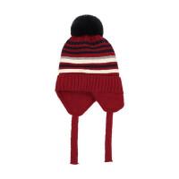 韩版男女宝宝毛线帽子婴儿童保暖毛球护耳帽小孩套头帽