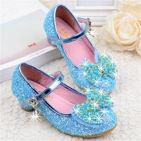 女童皮鞋高跟公主鞋春秋韩版女童鞋水晶亮片儿童单鞋