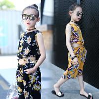 童装套装女童夏装短袖短裤中大儿童女孩夏季休闲套装
