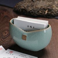 龙泉青瓷 名片夹名片座 创意高档陶瓷名片架名片座单格名片盒桌面