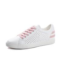 镂空透气小白鞋女运动鞋韩版百搭平底板鞋内增高夏季休闲鞋子