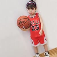 童装儿童篮球服套装2018夏季新款男童网眼球服女童宝宝运动服
