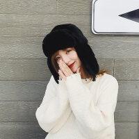帽女帽子男冬季韩版东北防寒帽冬天骑车护耳加厚防风保暖棉帽新品 均码(加厚帽)