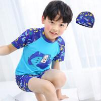 儿童泳衣男童小中大童分体游泳衣套装男孩泳裤宝宝