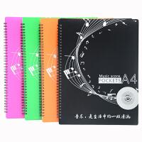 钢琴曲谱夹A3五线谱册40P60P音乐乐谱夹A4文件夹学生音乐曲简谱本