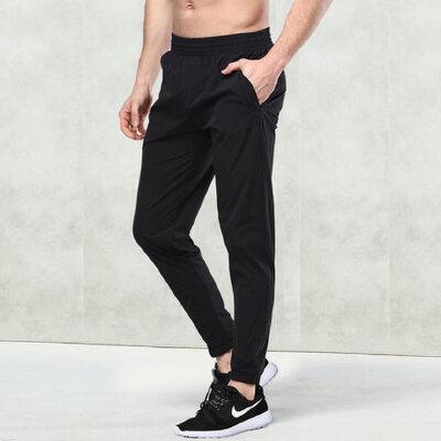运动长裤男士跑步长裤足球裤子男装收口梭织运动裤
