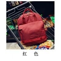 拉杆书包多功能双肩包旅行衣物收纳包旅游外出防水背包时尚电脑包 红色