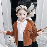 女童毛衣套头春装儿童卡通刺绣针织开衫打底衫宝宝中大童