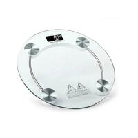 长久待机钢化玻璃屏圆形精准健康电子体重秤