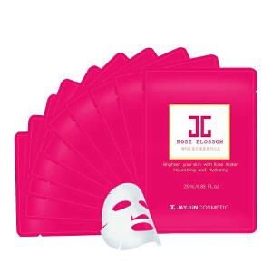 韩国jayjun保加利亚红玫瑰 水光面膜 补水美白抗皱淡斑抗敏 10片/盒