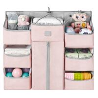 babycare婴儿床挂袋宝宝尿不湿收纳袋挂篮尿布包挂袋置物架可水洗【