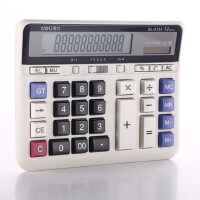 DELI得力计算器DL-2135电脑键盘银行财务办公财务 大屏幕计算机