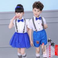 儿童演出服中小学生合唱服校服男女童表演服幼儿园舞蹈服装背带裤
