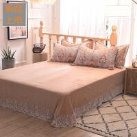 珊瑚绒毛毯床单毛绒冬天单件加绒加厚水晶绒双人法兰绒被单秋冬季定制
