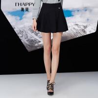 【10.18上新】海贝年冬季新款女 A字修身毛呢半身短裙