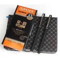奥博GP-1958 豪爵中性笔 0.5mm子弹头 黑色办公中性笔 学生笔记用笔