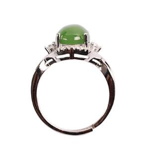 梦 梵雅 S925银和田碧玉戒指
