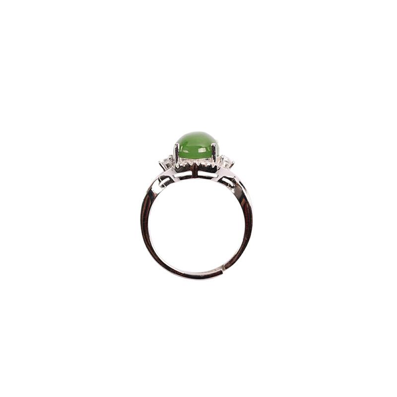 梦 梵雅 S925银和田碧玉戒指戒指尺寸细节请咨询客服
