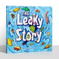 英文原版绘本The Leaky Story漏事儿 儿童英语启蒙 激发儿童宝宝想象力 充满了冒险的元素 支持小怪兽/小达