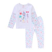【2件3折到手价:71】小猪班纳童装女童套装薄款2020春季新款女宝宝小童睡衣睡裤两件套