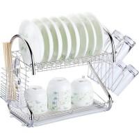 厨房用品多功能S型双层碗碟架碗架9字型碗架餐具架厨房收纳架碗碟架碗架