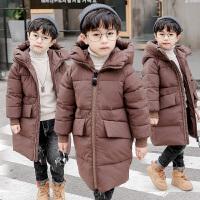 儿童冬装中大童长款棉袄小童羽绒韩版冬季潮男童棉衣外套