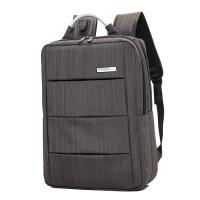 可USB充电男士商务包电脑包双肩包背包学生书包