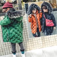 儿童装男童女童棉衣外套中长款加厚棉袄韩版2018冬装新款潮F161 U