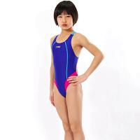 洲克青少年儿童泳衣女童游泳装中大童韩国可爱连体游泳衣三角游衣
