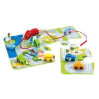 Hape都市穿绳拼图2-6岁儿童益智串珠玩具精细动作婴幼玩具木制玩具E1022