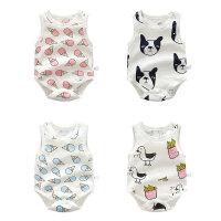 婴儿衣服季无三角哈衣3月宝宝睡衣新生儿连体衣爬服新年