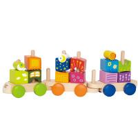 Hape奇幻小火车18个月以上拆装益智儿童玩具婴幼玩具木制玩具E0417