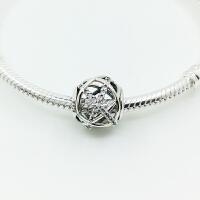 PANDORA潘多拉女手链串珠925纯银镶锆石镂空雕刻diy珠子 791388CZ