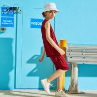 【3折价:35.7】小虎宝儿儿童背心短裤套装男童装洋气2019夏季新款中大童两件套潮