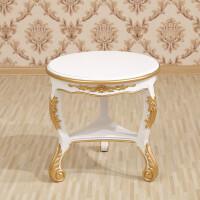 明发欧式沙发休闲椅新古典单人座沙发法式实木老虎椅洽谈桌椅组合 单人