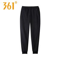【过年不打烊 2件4折】361度女裤2018冬季新款针织长裤361加绒保暖收口运动裤