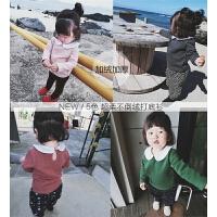 女童长袖t恤2017冬新款韩版加绒上衣婴幼儿加厚翻领纯棉打底衫潮