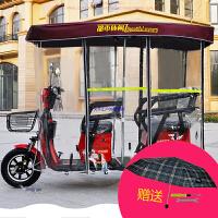 电动三轮车雨棚车篷 休闲车小巴士折叠车雨棚 全透明加厚新款车棚