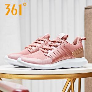 361女鞋运动鞋2018秋季新款革面拼接轻便休闲潮鞋361度跑步鞋女