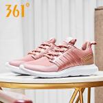 361度女鞋运动鞋2018秋季新款革面拼接轻便休闲潮鞋跑步鞋女
