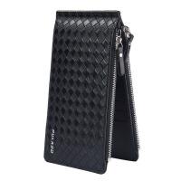 卡包男士多卡位*卡夹长款钱包卡包一体包多功能银行卡套 黑色 质量以检验