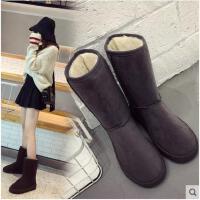 韩版新款原宿百搭雪地靴女中筒冬季保暖加绒休闲防滑学生棉鞋